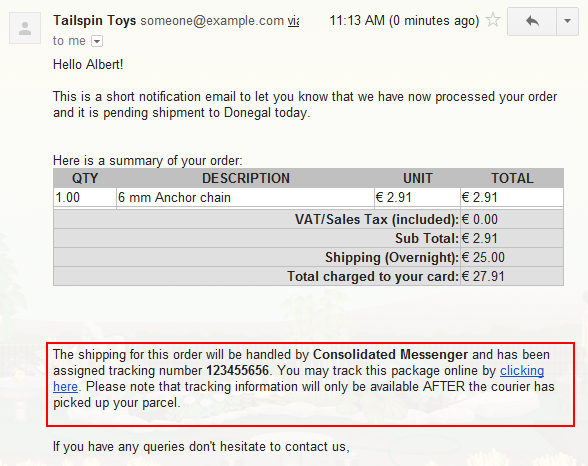 Including The Ups Tracking Number In Order E Mails Webstore